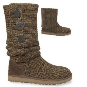 UGG CLASSIC CARDY BOOT Moss Brown Size 8